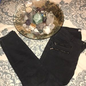 Zara Moto Grey/Black Pants